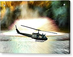Combat Helicopter Acrylic Print by Olivier Le Queinec