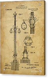 Combined Pole And Lamp Post - 1914 Acrylic Print by Pablo Franchi