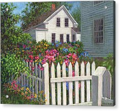 Come Into The Garden Acrylic Print by Susan Savad