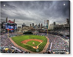 Comerica Park Home Of The Tigers Acrylic Print by Shawn Everhart