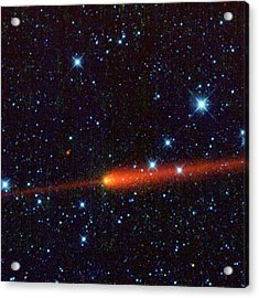 Comet 65p-gunn, Infrared Image Acrylic Print by Science Photo Library