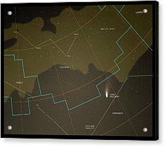 Comet Hale-bopp And Constellations Acrylic Print by Detlev Van Ravenswaay