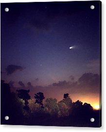 Comet Hale-bopp. Lake Cypress. Acrylic Print by Chris  Kusik
