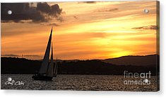Coming Home .  Sunset Acrylic Print by Geoff Childs