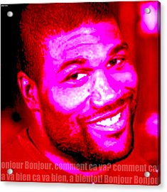 Comment Ca Va Rampage Jackson Acrylic Print by Greg Hoey