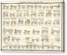 Commercial Wagons  1881 Acrylic Print by Daniel Hagerman