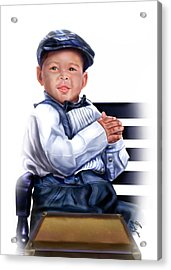Commissioned - Handsome Baby Boy 1a Acrylic Print by Reggie Duffie
