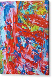 Commotion Acrylic Print by Artist Ai