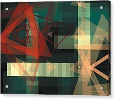 Composition 36 Acrylic Print by Terry Reynoldson