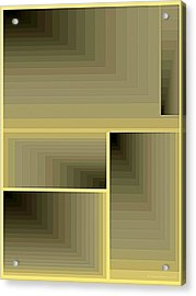 Composition 70 Acrylic Print by Terry Reynoldson