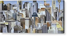 Composition Looking East Acrylic Print by Catherine Abel
