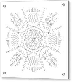 Compression Acrylic Print by DB Artist