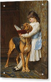 Compulsory Education Acrylic Print by Briton Riviere