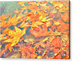 Computer Generated Image Of Autumn Acrylic Print by Angela A Stanton