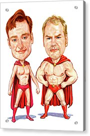 Conan  O'brien And Jim Gaffigan As Pale Force Acrylic Print by Art
