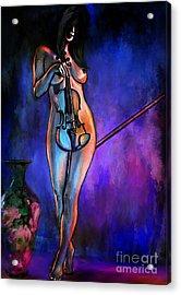 Concert At Night. Acrylic Print by Andrzej Szczerski