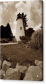 Concord Point Lighthouse Acrylic Print by Skip Willits