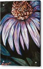 Coneflower Painting Acrylic Print by Art By Lisabelle