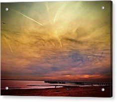 Coney Island After Sandy Acrylic Print by Frank Winters