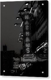 Coney Island Noir Acrylic Print by Jon Woodhams