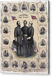 Confederate Leaders, C1896 Acrylic Print by Granger