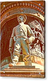 Confederate Soldier Statue I Alabama State Capitol Acrylic Print by Lesa Fine