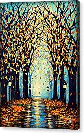 Confetti Acrylic Print by Janine Riley
