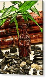 Confucius In The Garden Acrylic Print by Paul Ward