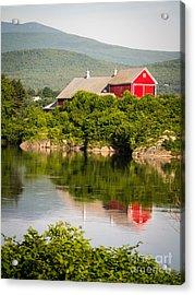 Connecticut River Farm Acrylic Print by Edward Fielding