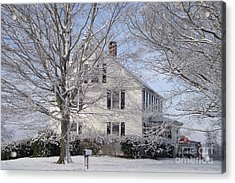 Connecticut Winter Acrylic Print by Michelle Welles