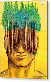 Consciousness Creates Reality Acrylic Print by Paulo Zerbato