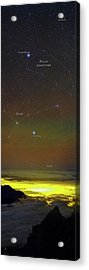 Constellations Over Clouds Acrylic Print by Babak Tafreshi