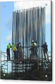 Construction4 Acrylic Print by Leon Hollins III