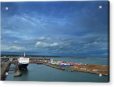 Container Docks At The Mouth Acrylic Print by Panoramic Images