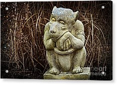 Contemplating Autumn Acrylic Print by Mary Machare