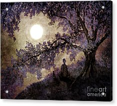 Contemplation Beneath The Boughs Acrylic Print by Laura Iverson