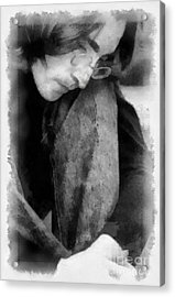 Contemplative John Acrylic Print by Paulette B Wright