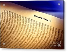 Contract Acrylic Print by Olivier Le Queinec