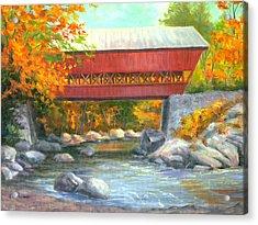 Conway Covered Bridge #47 Acrylic Print by Elaine Farmer