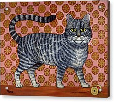 Cookie Cat Acrylic Print by Linda Mears