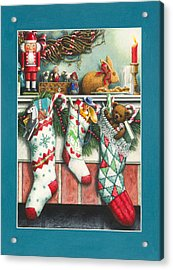 Cookies For Santa Acrylic Print by Lynn Bywaters