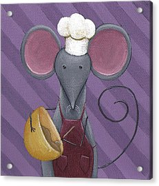 Cooking Mouse Kitchen Art Acrylic Print by Christy Beckwith