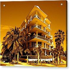 Cool Iron Building In Miami Acrylic Print by Monique Wegmueller