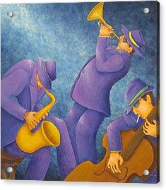Cool Jazz Trio Acrylic Print by Pamela Allegretto