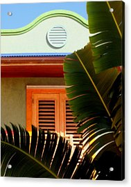 Cool Tropics Acrylic Print by Karen Wiles
