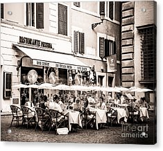Cooling Off In Sepia Acrylic Print by Christina Klausen