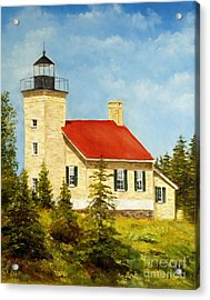 Copper Harbor Lighthouse Acrylic Print by Lee Piper