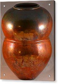 Copper Penny Gloss 2 Acrylic Print by Chris Tennis