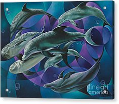 Corazon Del Mar  Acrylic Print by Ricardo Chavez-Mendez
