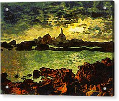 Corbiere Lighthouse Acrylic Print by Unknown